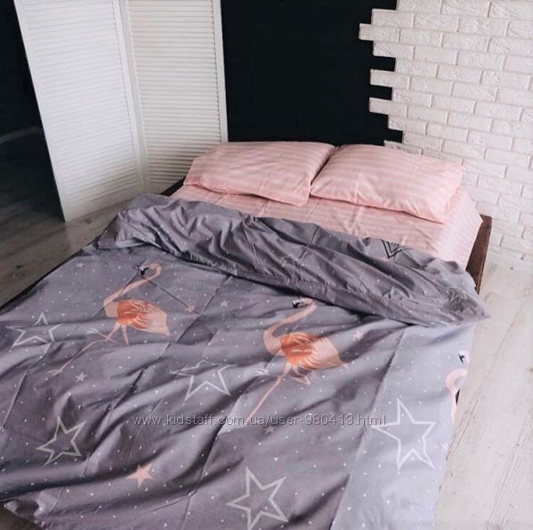 Фламинго- натуральное постельное белье из поплина