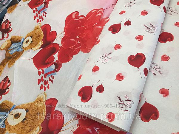 Ткань для детского постельного белья, бязь Сюрприз основа ткань с мишками