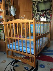 Детская кроватка Geoby LM-604-SA H-452