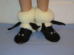 Тапочки сапожки  овечки