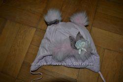 Зимова шапуля для дівчинки