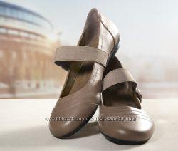 Кожаные туфли-балетки ТСМ tchibo. 37р
