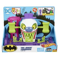 Оригинал Трек Hot Wheels DC The Joker Playset, Хот Вилс  Дом Джокера
