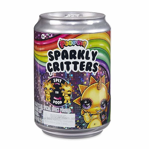 Оригинал Poopsie Sparkly Critters 2 волна Пупси слайм единорожка