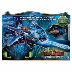 Большой дракон Беззубик Дышит огнем и биолюминесцентный Оригинал