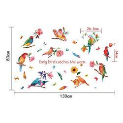 Интерьерная наклейка на стену Тропические Птицы