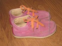 Детские ботиночки Naturino для девочки, натуральный замш, кожа, 28 размер