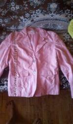 Куртка розовая кожзам