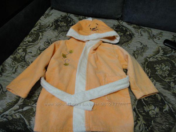 махровый халат Винни Пух с капюшоном
