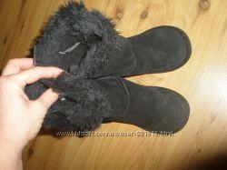 натуральные замшевые ботинки сапоги NEXT 20 см