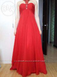 красное вечернее платье, платье на выпускной, длинное платье в пол Jovani