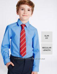 Школьные рубашки длинный и короткий рукав на мальчиков 6-7-8-9 лет