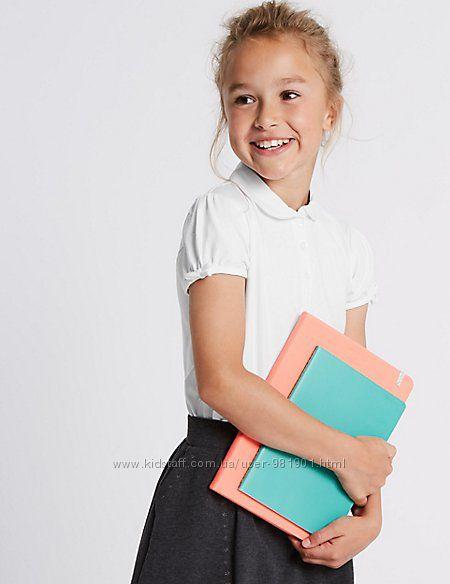 Школьные блузы, поло для девочек 6-7-8-9 лет