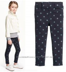 Штаны, джинсы, треггинсы H&M для девочек