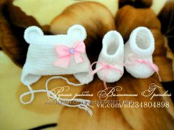 комплекты для новорожденных ручной работы