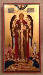 Икона Архангел Михаил Архистратиг. Королевская на золоте.