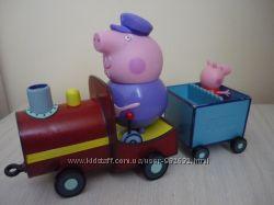 Музыкальный паровозик дедушки Свина Peppa Pig Свинка Пеппа Оригинал