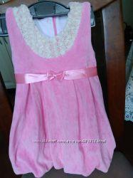 Нарядное Вельветовое Платье на рост  74-80см