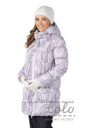 Куртка 3в1 зимняя до -30 градусов сиренево-серые огурцы Lo-Lo Mommy Secret
