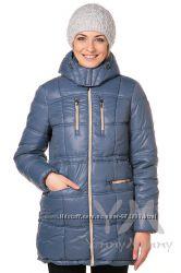 Куртка зимняя 3в1 до -30 градусов арт 803224 индиго с песочным Ямми Мамми
