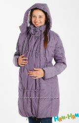 Зимняя куртка пальто 3в1 Классика черная и лаванда до -15 градусов Ням-Ням