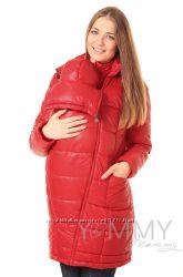 Пальто зимнее 3в1 до -35 градусов арт 80924 красное - Ямми Мамми