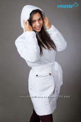Куртка пальто 3в1 зимнее до -30 градусов белое Vmeste Вместе