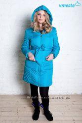 Куртка пальто 3в1 зимнее до -30 градусов бирюза Vmeste Вместе