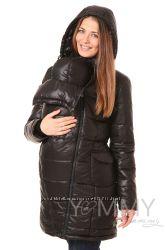 Пуховое пальто зимнее 3в1 до -40 градусов арт 80621 черное Ямми Мамми
