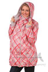 Демисезонная куртка 3в1 мод 801119 красная клетка - Ямми Мамми