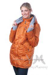 Демисезонная куртка 3в1  мод 801122 терракотовая с цветами - Ямми Мамми