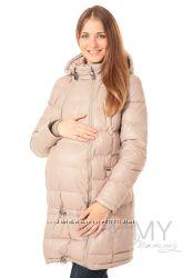 Пуховое пальто зимнее 3в1 до -40 градусов арт 80623 бежевое - Ямми Мамми