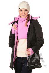 Куртка зимняя 3в1 до -30 градусов арт 80126 черная с розовым Ямми Мамми