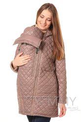 Куртка зимняя стеганная 3в1 до -30 градусов арт 80823 бежевая - Ямми Мамми