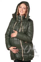 Куртка зимняя 3в1 до -30 градусов арт 803226 хаки с песочным Ямми Мамми