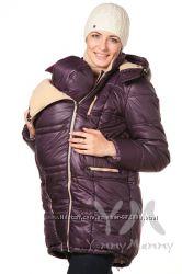 Куртка зимняя 3в1 до -30 градусов арт 803227 баклажан с песочным Ямми Мамми
