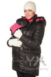 Куртка зимняя 3в1 до -30 градусов арт 803228 черная с малиновым Ямми Мамми