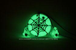 светящийся кулон или серьги на Хэллоуин