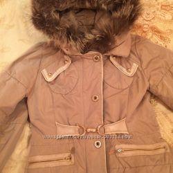 Зимний плащ Zara на меху