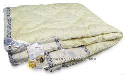 Шерстяные одеяла ТМ Leleka-Textile Шерсть Стандарт в тике из нежного сатина