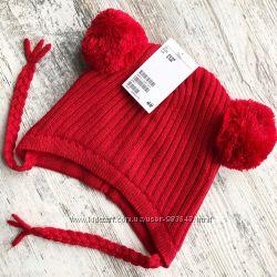 зимняя шапка H&M на флисе 6-24 мес
