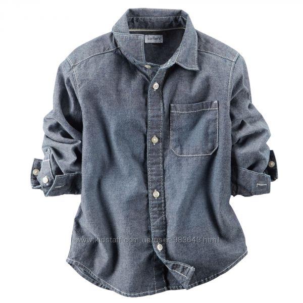 рубашка джинсовая carters  12 мес
