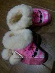 теплые пинетки овчина