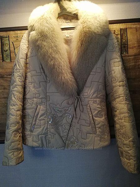 Куртка курточка с натуральным мехом