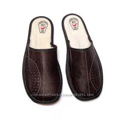 Тапочки мужские, кожаные 41р