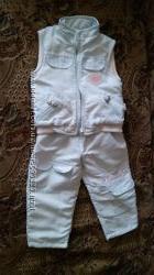 Комплект BEBUS жилетка и штаны на флисе р. 92