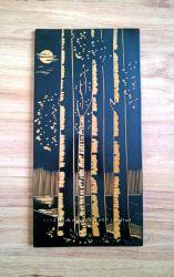 Картина резная 20, 5х40, 5см Берёзы, дерево, панно