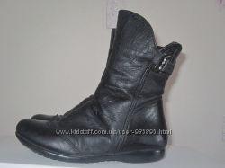 Сапоги демисезонные кожаные, 27 размер, стелька-18 см