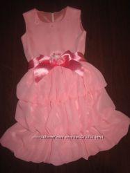 Платье новое нарядное на 2- 4 года, шифон