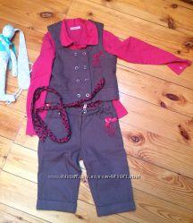 Школьная форма для девочки брючный костюмжилетблуза